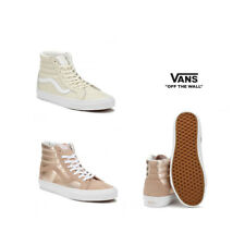 Vans Womens Mahogany Rose / True White - Beige SK8-Hi Reissue Trainers Size 3 -8