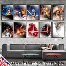 Star Wars Style Canvas or Glossy Photo Movie Poster Print Vintage Wall Art A4