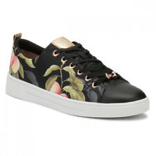 Ted Baker Womens Peach Blossom Black Ahfira Trainers Size 3 - 8