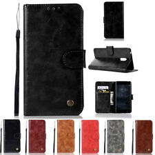 For Nokia 6 Luxury Leather Magnetic Stand Card Slot Flip Wallet Case Cover