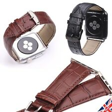 Genuine Leather Watch Strap Belt for Apple iWatch Series 1 2 3 Band  38mm 42mm