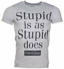 Official Men's Grey Forrest Gump Stupid Is As Stupid Does T-Shirt