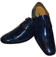 Liberty LS1045 Mens Spectator Fashion Dress Shoes Most Elegant Navy Blue
