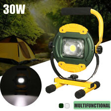 30W COB LED Flood Spot light Camping Portable Outdoor Flashing Lamp Rechargeable