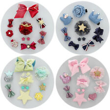 Prettyia 10Pcs Baby Girl Toddler Flower Hair Bows Hair Clips Ribbon Hairpins