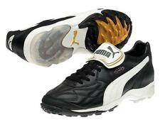 Puma King Allround TT Men's Turf Soccer Cleats Football Shoes Black/Wht/Gol