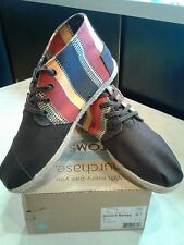 Toms Men's Desert Botas Brown Canvas Boot New With Tags!