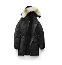 NWT AUTHENTIC CANADA GOOSE TRILLIUM PARKA 6550L WOMEN JACKET COAT BLACK NAVY