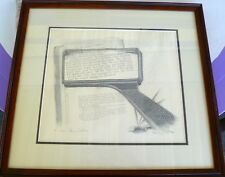 Henry Fonda, the Artist, Litho of 'Grapes of Wrath' #411 OF 500 FRAMED 2X SIGNED