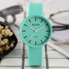 KEVIN Candy Color Black/White/Blue Silicone Band Women Quartz Wrist Watch Gifts