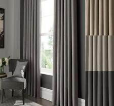 One Pair Of STUDIO G Lined Semi-Plain Elba Eyelet Or Pencil Pleat Curtains