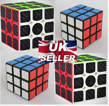 3x3x3 Carbon Fiber And Colorful Rubik's Cube Intelligence Game Kids Perfect Gift