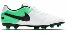 Nike Tiempo Rio III Mens FG Outdoor Soccer Shoes White Black Electro Green