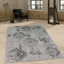 Vintage Design Rug Abstract Carpet Indoor Outdoor Use Stylish Elegant Flat Woven