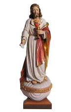 Sacred Heart of Jesus statue with sacramental bread wood carved