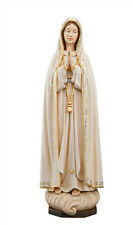 Our Lady of Fatima Capelinha statue wood carving - made in Italy