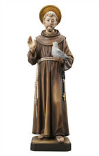 Saint Francis statue wood carved