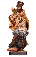 Saint Nepomuk statue wood carved handmade in Italy