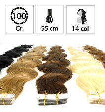 EXTENSION MOSSI CAPELLI ADESIVA, BIADESIVE REMY VERY 55CM. 100GR.