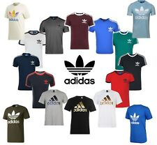 Adidas T-Shirt Mens California Originals Retro Essentials Crew Neck Short Sleeve