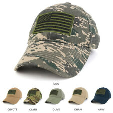 USA American Flag Embroidered Subdued OLIVE Tactical Patch Adjust Operator Cap