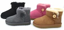 UGG AUSTRALIA JUNIOR GIRL ANKLE BOOTS BOOTIES WINTER CODE MINI BAILEY BUTTON
