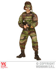 Boys Super Soldier Costume Super Hero Superhero Fancy Dress Cosplay Outfit
