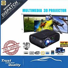 7000 Lumens HD 1080P Home Theater Projector 3D LED Portable SD HDMI VGA USB S