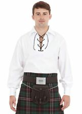 Mens Ghillie Jacobite Scottish Highland Kilt Shirts in 5 Different Quality Color