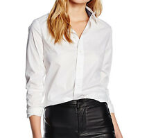 G-Star Raw Blusa Donna Core Slim Shirt, Bianco, Camicia, NUOVO