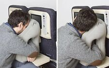NEW Inflatable Air Travel Pillow Airplane Neck Head Chin Cushion Office Nap Rest