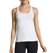 Casall Womens Mesh Back Racerback Training Gym Fitness Tank White Sports