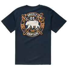 Grizzly Native Elements T-Shirt Navy Skateboard Shirt Gr.S-L