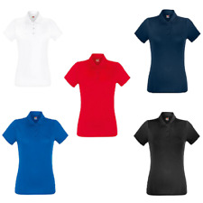 Fruit of the Loom Women's Lady-Fit Comfortable Performance Polo Shirt Running