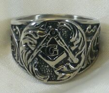 ANILLO MASONIC DE PLATA 925 STERLING SILVER FRANCMASONES MASONIC RING GRANDE