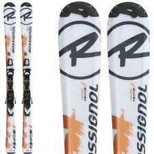 Ski occasion junior Rossignol radical J blanc orange + fixations