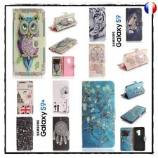 Etui coque housse Cuir PU Leather wallet case cover Samsung Galaxy S9  S9 + plus