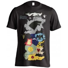 GAME OF THRONES- WESTEROS SIGILS MAP- T-SHIRT