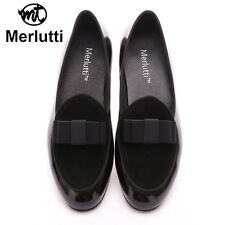 Merlutti Black Moccasin Loafers