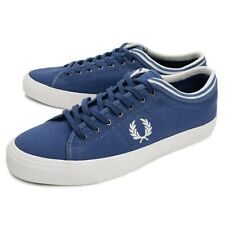 Fred Perry Men's Kendrick Tipped Cuff Canvas Shoes Trainers B5210 -Midnight Blue