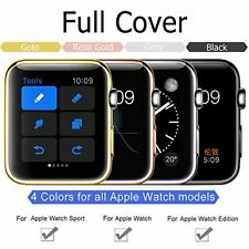38mm 42mm iWatch 2 3 PC Plated Electroplate Protective Bumper Screen Cover