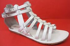 Donna Savannah open toe sandali stile gladiatore F0371 BIANCO ARTIFICIALI