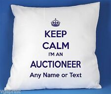 Keep Calm I'm an Auctioneer SATIN POLYESTER
