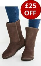 New UGG BNIB £170 Leather Fur Suede Classic MICHELLE Women's Shoes Boots