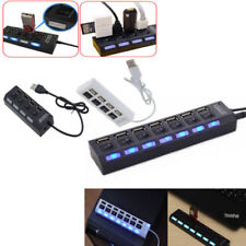 3/4/7-Port USB 2.0 Hub with High Speed Adapter ON/OFF Switch for Laptop PC KF