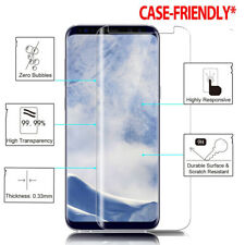 Case Friendly For Samsung Galaxy S8 S9 Note 8 3D Tempered Glass Screen Protector