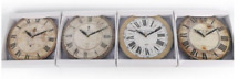 28 cm Antique Effect Wall Clocks French Word Round Shape Wooden Clocks Home New