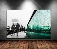 Print / Canvas millennium bridge in london black with st pauls cathedral photo