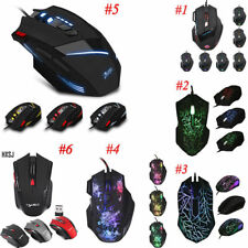 USB Wired LED Optical Gaming Mouse Game Mice LED Light 7 Buttons Desktop Laptop