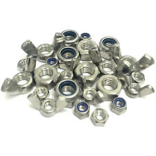 M3 M4 M5 M6 M8 M10 M12 M16 Hex Full Nut - 'T Type' Nylocs - Wing - A2 Stainless
